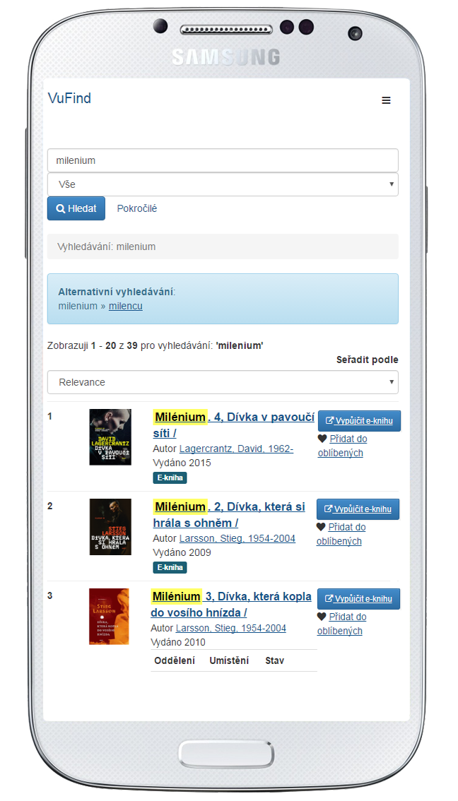 VuFind - mobilní verze 2.0